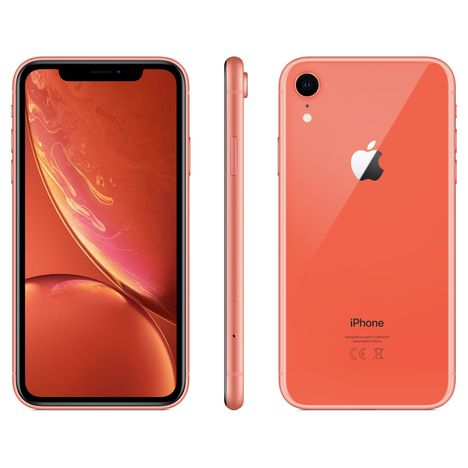 APPLE iPhone - XR - 128 Go - 6.1 pouces - Corail - 4G