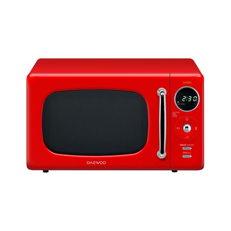 DAEWOO Micro-ondes KOR-6LNEOR, Rouge, 800 W, 20 L