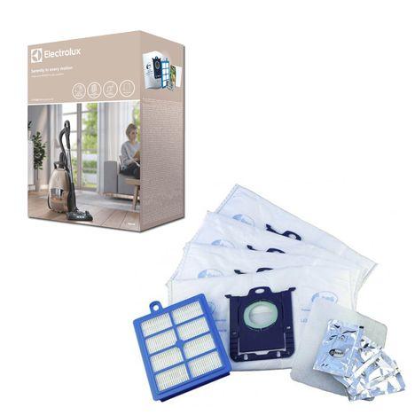 ELECTROLUX Lot de 4 sacs aspirateur s-bag + 1 filtre hygiène + 4 sachets s-fresh Citrus Burst ESKD9 Pured9 Performance