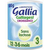 Gallia galliagest croissance sans lactose 800g 1 à 3ans