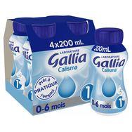 Gallia calisma liquide 1er âge 4x200ml de 0 à 6mois