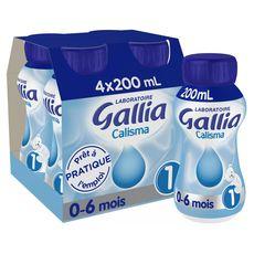 GALLIA Gallia calisma liquide 1er âge 4x200ml de 0 à 6mois