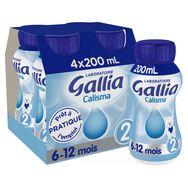 Gallia calisma liquide 2eme âge 4x200ml de 6 à 12mois