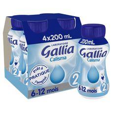 GALLIA Gallia Calisma 2 lait 2ème âge liquide de 6 à 12 mois 4x20cl 4x20cl