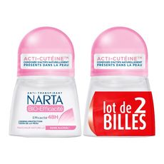 NARTA Bio Efficacité Déodorant bille dermo protection 48h sans alcool 2x50ml