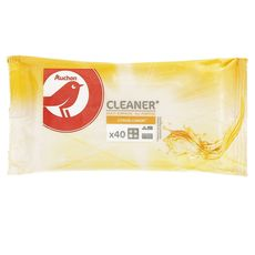 Auchan lingettes multi-usage citron x40