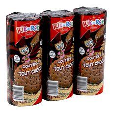 Rik&Rok goûters fourrés ronds tout chocolat 3x300g