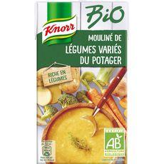 Knorr soupe mouliné de légumes variés du potager bio 1l