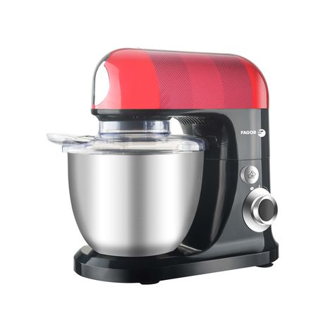 FAGOR Robot pâtissier FG555 - Noir/Rouge/Inox