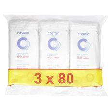 COSMIA BABY Maxi carrés 100% coton sensitive 240 cotons