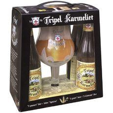 KARMELIET Karmeliet Coffret bière blonde triple 8,4% bouteilles 4x33cl +1 verre 4x33cl