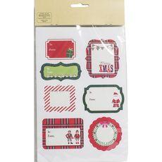 AUCHAN Auchan étiquette dear santa x14