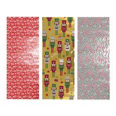 AUCHAN Auchan papier cadeau dear santa 5m 3design assortis