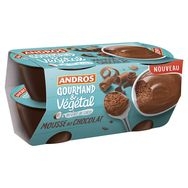 Andros mousse végétal chocolat 4x55g
