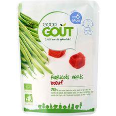 GOOD GOUT Purée de haricots verts et boeuf bio dès 6 mois 190g