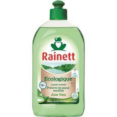 RAINETT Liquide vaisselle écologique aloé vera peaux sensibles 500ml