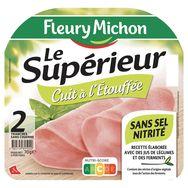 Fleury Michon Le Supérieur Jambon sans couenne 2 tranches 70g
