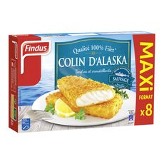 Findus filets pané de colin x8 -680g