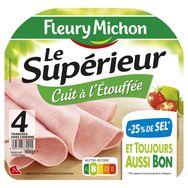 Fleury Michon jambon supérieur -25% de sel 4 tranches 160g