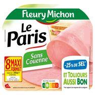 Fleury Michon le Paris sans couenne -25% de sel 8 tranches 280g