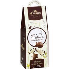 REVILLON CHOCOLATIER Friture Croustillante chocolat et lait blanc 190g