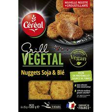 CEREAL BIO Céreal bio Nuggets végétal de soja et blé 150g 6 pièces 150g