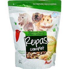 AUCHAN Repas complet pour hamsters rats souris et gerbilles 500g