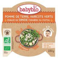 Babybio pomme de terre haricots verts dinde 230g dès12mois