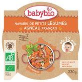 Babybio navarin de petits légumes agneau 230g dès 12 mois