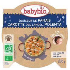 Babybio assiette bio panais carottes riz 230g dès 12 mois