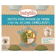 Babybio pot légumes cabillaud bio 2x200g dès8mois