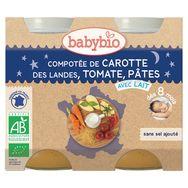Babybio compotée carottes tomates pâtes 2x200g dès 8mois
