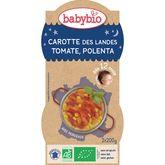 Babybio assiette carotte tomate polenta 2x200g dès 12 mois