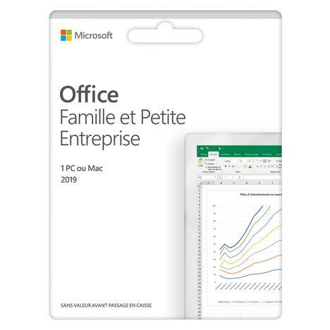 MICROSOFT Logiciel bureautique Office Famille et Petite entreprise 2019 - Pour PC ou Mac - Licence à vie - Pour 1 utilisateur