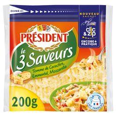 Président râpé aux 3 fromages 200g