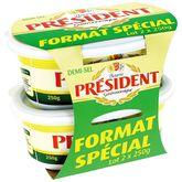 Président beurre demi-sel 2x250g prix choc