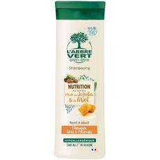 L'Arbre Vert Shampooing nutrition jojoba & miel cheveux secs & abimés 250ml