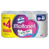 Lotus Lotus papier toilette style Moltonel sans tube x8 +4offerts