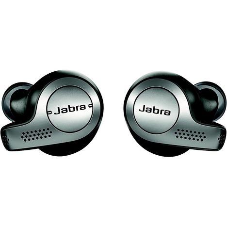 JABRA Écouteurs sans fil Bluetooth avec étui de recharge - Titanium Noir - Elite 65T