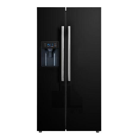 TRIOMPH Réfrigérateur américain TMS488NFBK - 490 L, Froid No Frost