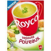 Royco Royco Soupe instantanée velouté de poireaux 4x20cl