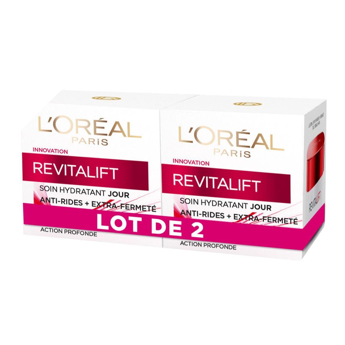 L'Oréal Revitalift soin de jour hydratant anti-rides et fermeté 2x50ml