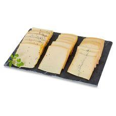 FROMAGE Assortiment raclette au lait cru nature, moutarde et morbier 720g