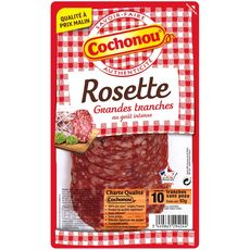 COCHONOU Rosette goût intense 10 grandes tranches 93g