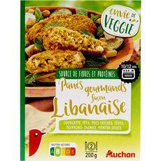 AUCHAN Auchan pané façon libanaise courgette,féta,pois,fève,poivron,menthe 2x100g 2x100g