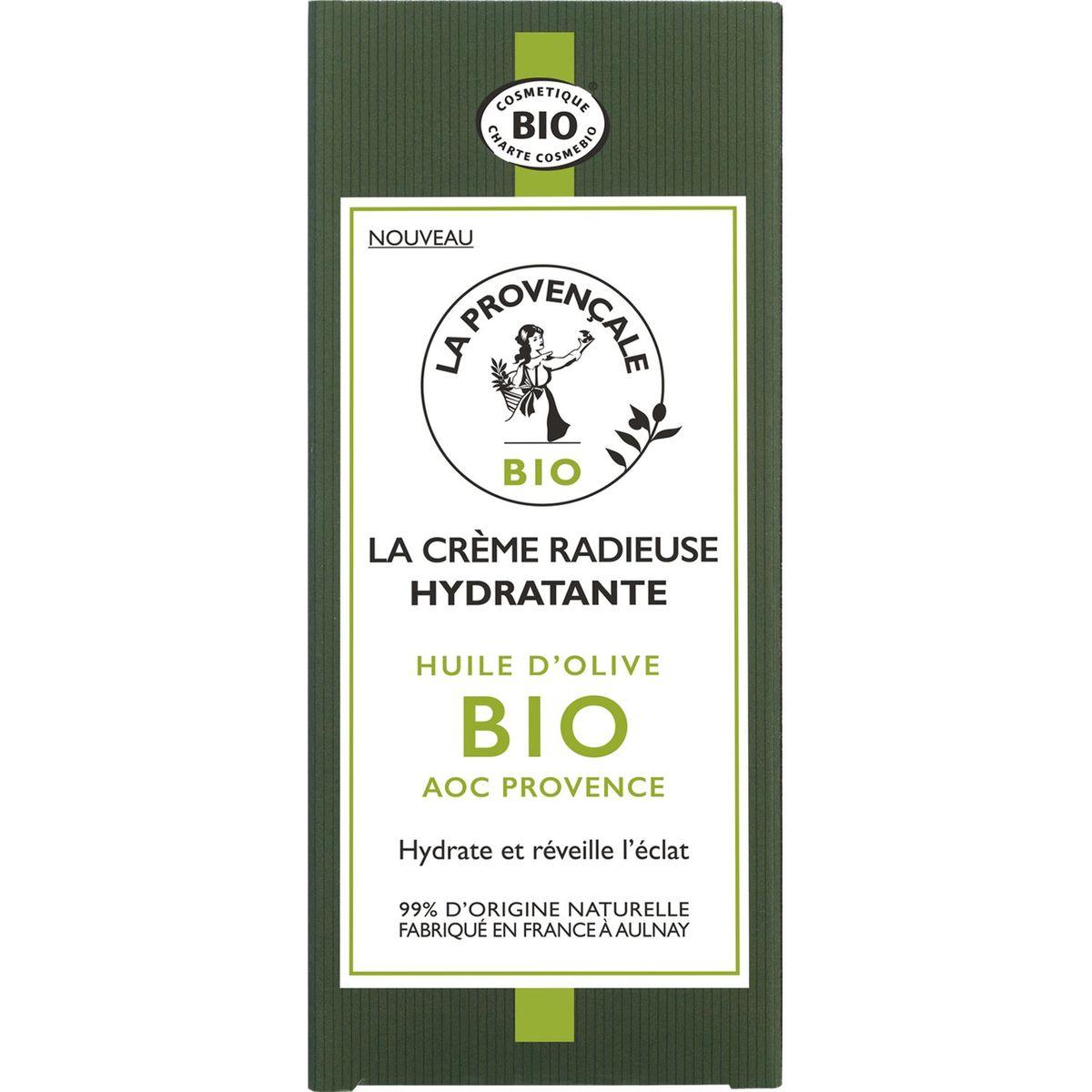La Provençale Bio Crème radieuse hydratante huile d'olive bio 50ml