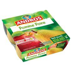 ANDROS Spécialité pomme poire 4x100g