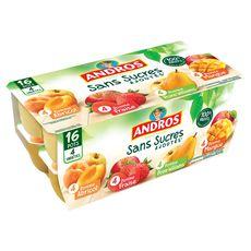 Andros compote panaché sans sucre ajouté x16 -1,6kg