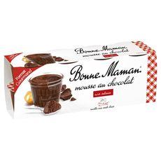BONNE MAMAN Bonne Maman Mousse au chocolat intense 8x50g 8x50g