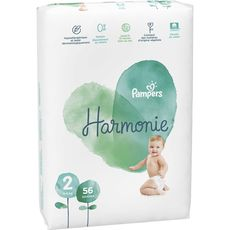 PAMPERS Harmonie couches taille 2 (4-8kg) 56 couches